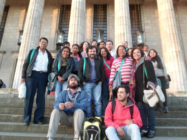 """Participantes luego del Seminario Taller """"Territorio y Derechos Humanos"""""""