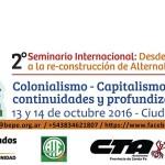 2º SEMINARIO INTERNACIONAL: 'Desde el extractivismo a la re-construcción de Alternativas'